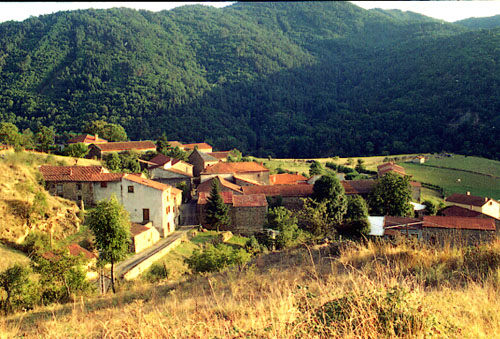 Chazieux from above the village