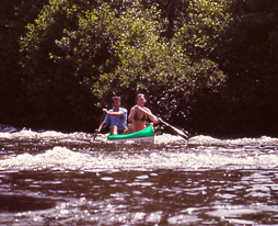 Kayaking on the Allier